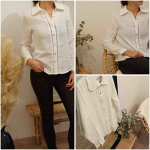 blouse blanche charlotte
